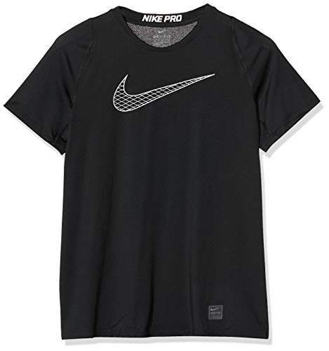 Nike Pro Boy's Compression T Shirt Small Polyester Black 1