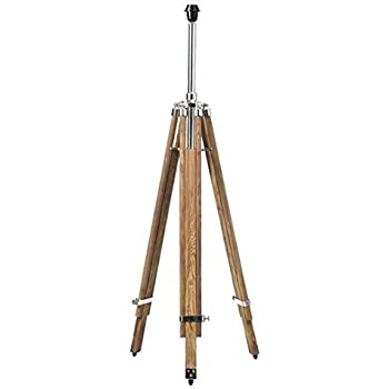Nauticalmart timber tripod floor lamp stand teak wood for Tripod spotlight floor lamp in teak wood
