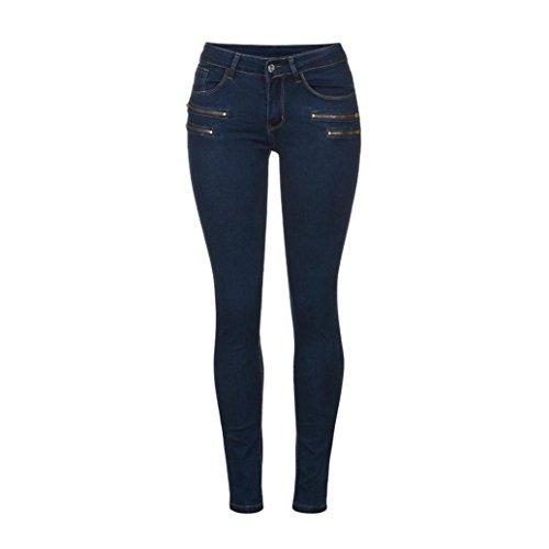 bleu Femme fonc droite Jeans Jambe Sansee w0Iq1pIH