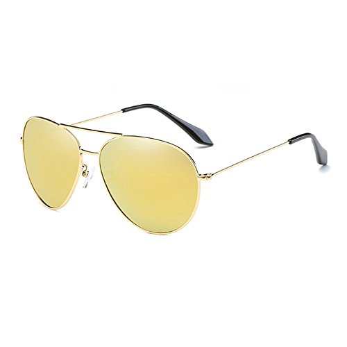de de TL Mujer Sol gold Gafas Volver Sol Hombre UV400 Sunglasses Sol Gafas Guía Plata polarizadas de yellow Gafas de a8qwpar