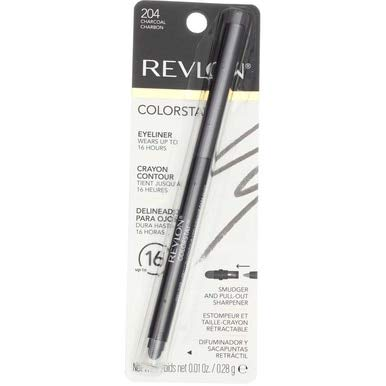Revlon ColorStay Eyeliner Pencil, Charcoal [204], 0.01 oz (Pack of 4)