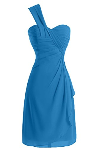 Sunvary a-line One-Shoulder Ruched garza vestiti Homecoming cocktail, Blu, 52