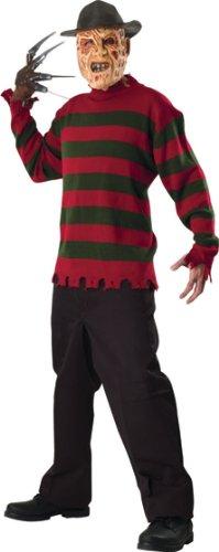 Rubie's Costume Co Freddy Deluxe Knit Sweater Costume, Standard, Standard - Freddy Krueger Kid Costumes