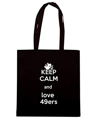 CALM Shopper Borsa 49ERS KEEP TKC1293 LOVE Nera AND dOIwIrq4