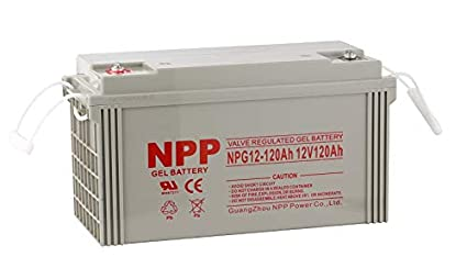 Amazon com: NPP NPG12-120Ah Rechargeable Gel Deep Cycle 12V 120Ah