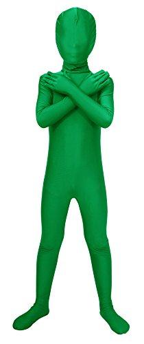 Sheface Kids Spandex Full Bodysuit Fancy Dress Costume (Small, (Bone Suit Kids Costumes)
