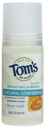 Tom's of Maine Crystal Confidence Deodorant Roll-On-Citrus Zest-2.4 oz (Quantity of 5) by Tom's of Maine (Crystal Maine)