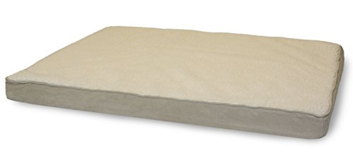 Furhaven Pet Sherpa and Suede Deluxe Fiber Pillow Dog Bed wi