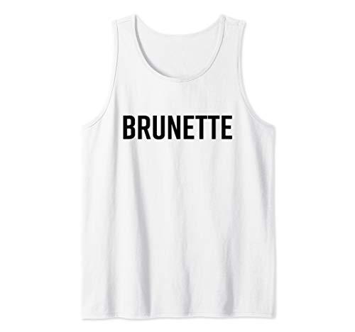 Brunette Shirt Dark Brown Black Hair Blonde Friends Saying Tank Top