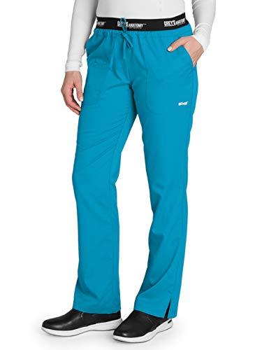 (Grey's Anatomy Active 4275 Drawstring Scrub Pant Blue Tonic L)