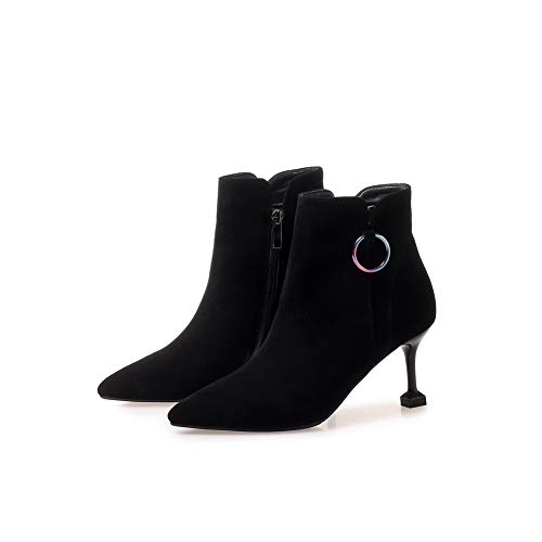 Mujer Cuña Con Mnh03823 Sandalias Negro 1to9 OwYzqfn