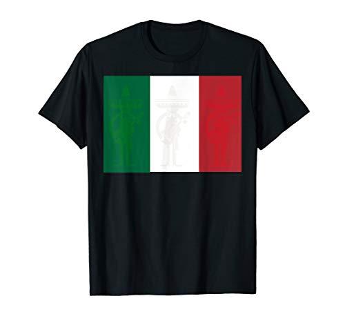 Mexican Flag Mariachi Band Guitar Sombrero Amigos  T-Shirt