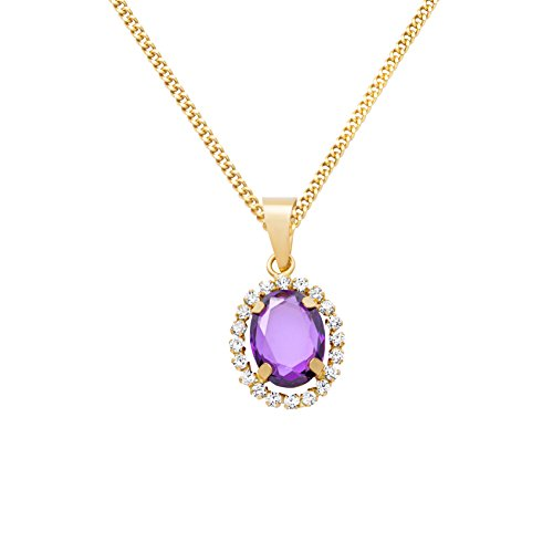 Miore - MA9097ZN - Collier Femme - Or Jaune 9 Cts 375/1000 1.81 Gr - Améthyste
