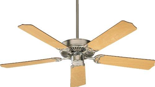Quorum International 77525-656 Capri I 52-Inch Ceiling Fan, Satin Nickel Finish with Reversible Blades