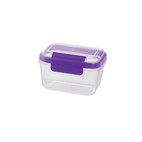 SnapLock by Progressive 2-Cup Storage Container - Purple, SNL-1007P Easy-To-Open, Leak-Proof Silicone Seal, Snap-Off Lid, Stackable, BPA FREE ()