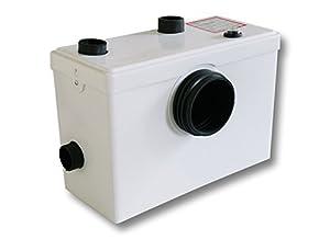 WilTec 3/1 Hebeanlage Abwasserpumpe Pumpe Kleinhebeanlage Fäkalien WC Häcksler