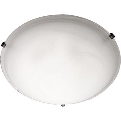 Maxim Lighting 2680 Malaga Flush Mount, Satin Nickel Finish, 12.5-Inch by 4-Inch