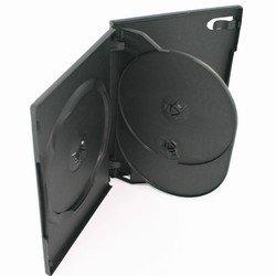 100 Standard Black Triple 3 Disc DVD Cases
