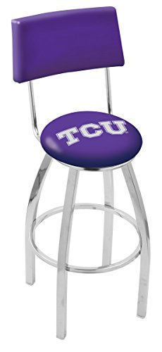 Holland Bar Stool L8C4 Texas Christian University Swivel Counter Stool, 25'' by Holland Bar Stool