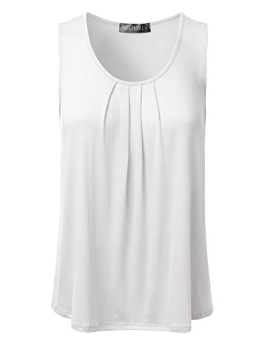 dressis-womens-basic-soft-pleated-scoop-neck-sleeveless-loose-fit-tank-top-ivory-xl