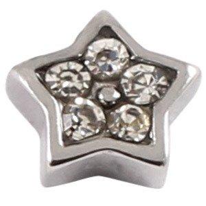 Fixation en acier chirurgical strass étoile en cristal transparent. Calibre est 1,6mm. (Fixation uniquement. également vendus sur Labret ou tragus Bar–Ne recherche)
