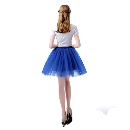 Bleu Jupe Tutu Uni Couleur Costume Tulle Ballet Layer pour Femme Bal 6 FydRise 7HSdgRfqH