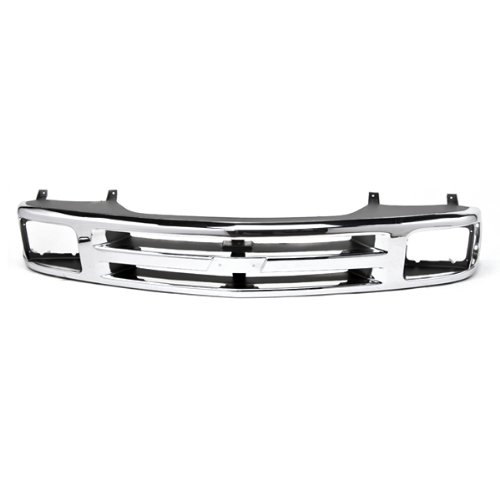 Single Sealed Beam - CarPartsDepot, Front Chrome Plastic Surface Grille w/ Single Sealed Beam Headlight, 400-15182 GM1200224 15672329