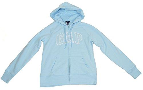 GAP Womens Neptune Blue Arch Logo Hoodie Full Zip (L)