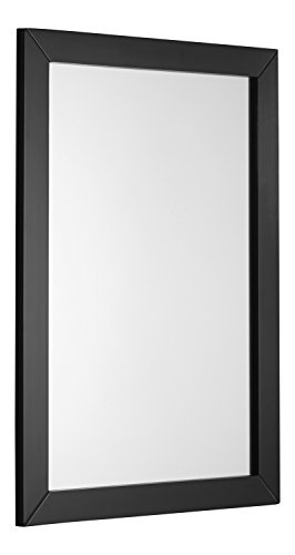 Simpli Home Chelsea Bath Vanity Mirror, Black