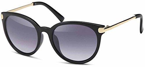 Vintage métal Lunettes en Retro pour Années finition tendance 60er lunettes soleil Femmes trendy de amp; Montures Unisexe avec Gris hommes couleur bronze en Style Or aartdq