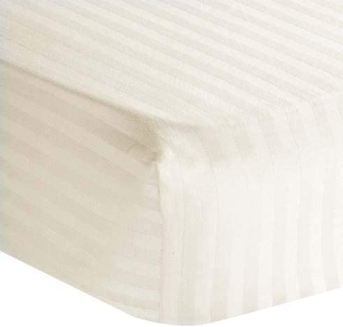 Super King Fitted Sheet 400 Thread Count White 12 Inch Depth Fully Elasticated