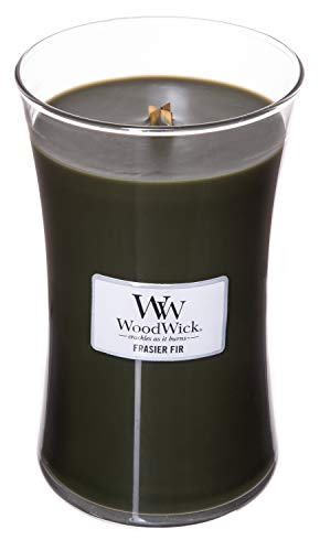 WoodWick Frasier FIR, Highly Scented Candle, Classic Hourglass Jar, Large 7 inches, 21.5 -