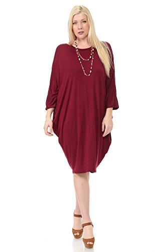 pastel-by-vivienne-womens-side-draped-dolman-sleeves-plus-dress-xxx-large-burgundy