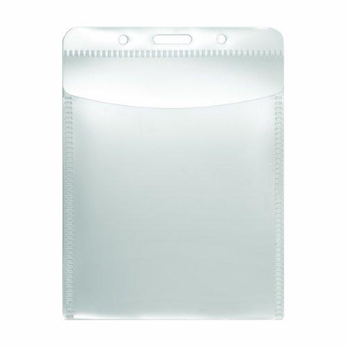 ADVANTUS PVC-Free Badge Holders, Vertical, 3 x 4 Insert Size, Pack of 50 Holders (75604)