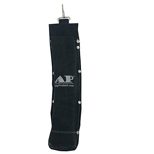 AllyProtect Flame Retardant Split Cowhide Leather Electrode Holder/Welding Rod Pouch/Bag/Holder (Black Color)