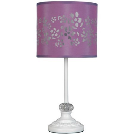 Your Zone White Pole Lamp with Purple Cut-out - Stores Nwa Mall