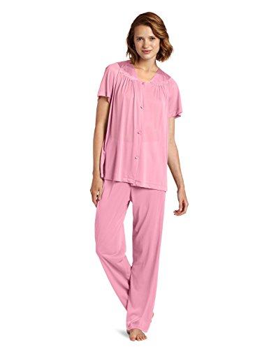 Vanity Fair Colortura Sleepwear Women`s Short-Sleeve Pajama Set, VF-90107, (Vf Vanity Fair)
