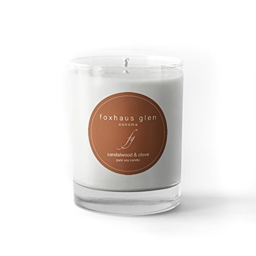 Foxhaus Glen Pure Soy 10.6oz Candle by the Sonoma Candle Company (Sandalwood & Clove)