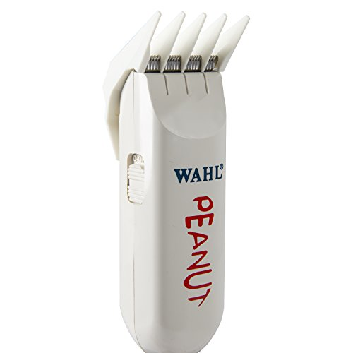 Wahl Professional Peanut Classic Clipper/Trimmer #8685, White – Great for Barbers and Stylists – Powerful Rotary Motor