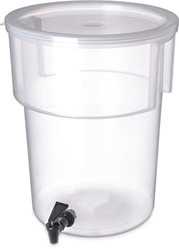 Carlisle 220930 Break-Resistant Beverage Dispenser, 5 Gallon, Clear (Gallon Tea 5 Dispenser)