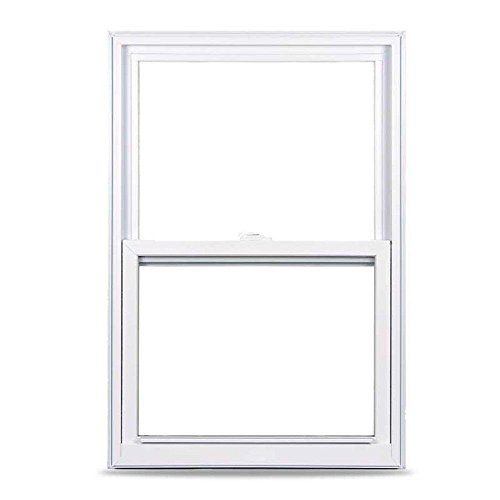 American Craftsman 50 Single Hung Fin Windows, 36 in. x 48 in., White, with LowE3 Insulated Glass, Argon Gas and ()