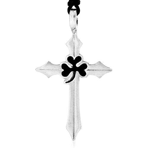 Irish Celtic Cross Shamrock - Dan's Jewelers Irish Shamrock Celtic Cross Necklace Pendant, Fine Pewter Jewelry