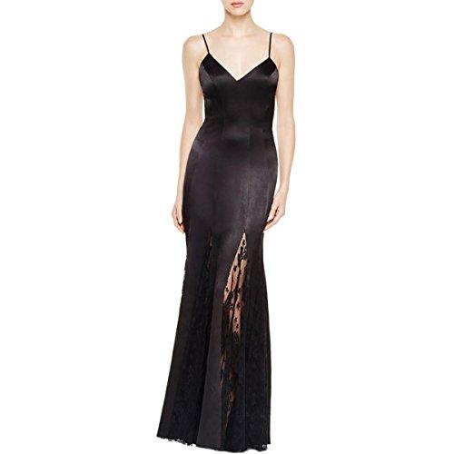 Abs Evening Dresses (ABS by Allen Schwartz Womens V-Neck Satin Evening Dress Black 4)