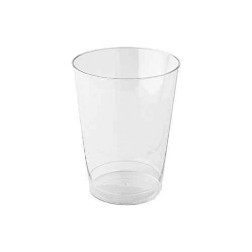 (WNA Comet 100 Count Rigid Tall Plastic Tumblers, 10 oz, Clear )