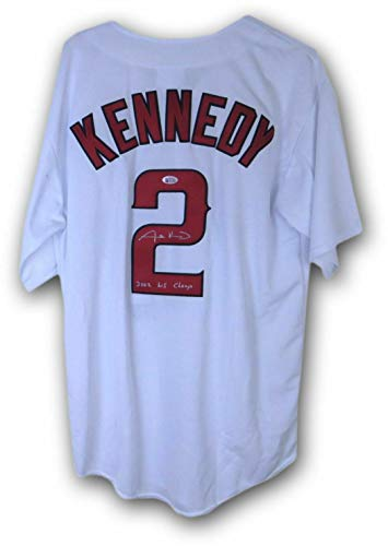"Adam Kennedy Signed Autographed Jersey Anaheim Angels""2002 WS Champ"" Beckett - Beckett Authentication"