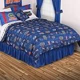 NCAA Florida Gators All Over Comforter, Queen, Bright Blue
