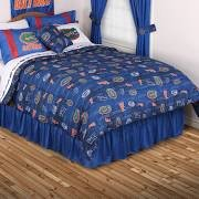 Sports Coverage NCAA Florida Gators All Over Comforter, Queen, Bright Blue ()