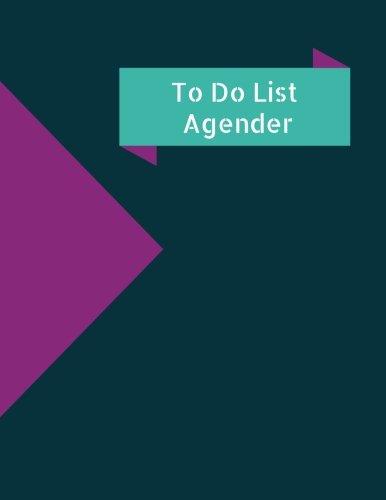 Read Online To Do List Agenda: To Do List pad pdf epub