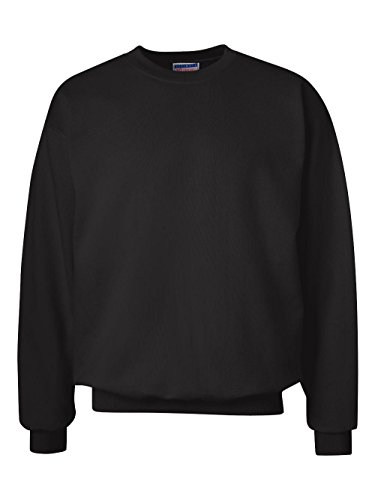 Hanes Men's Ultimate Heavyweight Fleece Sweatshirt, Black, (Open Neck Fleece Pullover)
