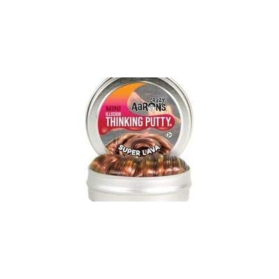 "Crazy Aaron's Thinking Putty 2"" Mini Tin (.47 oz) Super Lava - Soft Texture, Never Dries Out: Toys & Games"